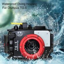 Seafrogs 水中 60 メートル/195ft ダイビングカメラハウジング防水オリンパス TG 5 TG5 カメラケース