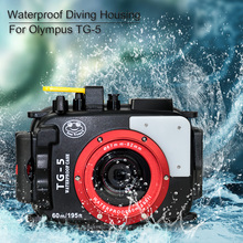 Seafrogs Underwater 60m/195ft Diving Camera Housing Waterproof Case For Olympus TG 5 TG5 Camera Case
