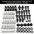 Для Kawasaki Ninja 1000 Z1000S Z1000SX 2011-2019 Полный Комплект болтов обтекателя зажимы гайки покрытие болты винт Нержавеющая сталь