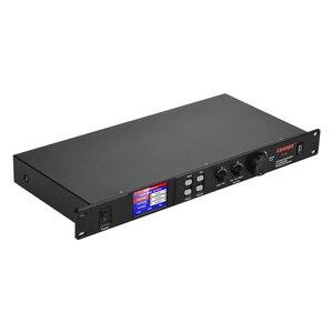 Image 2 - Lannge A 808 8 in & 8 fora processador de áudio digital lcd touchscreen 32bit dsp com usb rs232 interface do computador 1u montagem em rack