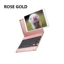 Новая клавиатура Bluetooth смарт-чехол для Apple, Pad Pro 9,7/iPad Air 2 корпус клавиатуры ABS стоял(Цвет: черный, серебряный, золотой, золото, розовое золото(как показано на рисунке