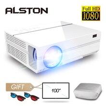 ALSTON T26 серия Full HD 1080P проектор 6500 люмен Домашний кинотеатр HDMI VGA USB tv 3D T25 T26 проектор с подарком
