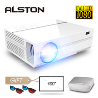 ALSTON T26 series Full HD 1080P Projector 6500 Lumens Home Cinema Theater HDMI VGA USB TV 3D T25 T26 proyector Beamer with gift