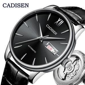 Image 1 - CADISEN 自動腕時計メンズメカニカル革の腕時計トップの高級ブランド日本 NH36A 腕時計時計レロジオ Masculino