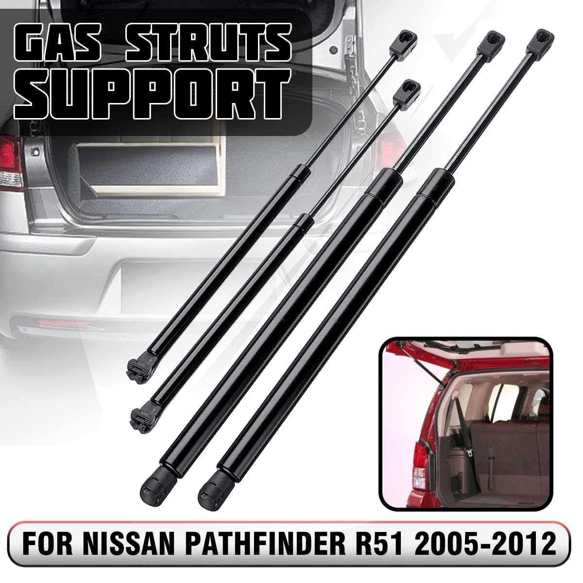 4pcs Rear Window /& Tailgate Boot Gas Spring Struts Support for Nissan Pathfinder R51 2005 2006 2007 2008 2009 2010 2011 2012