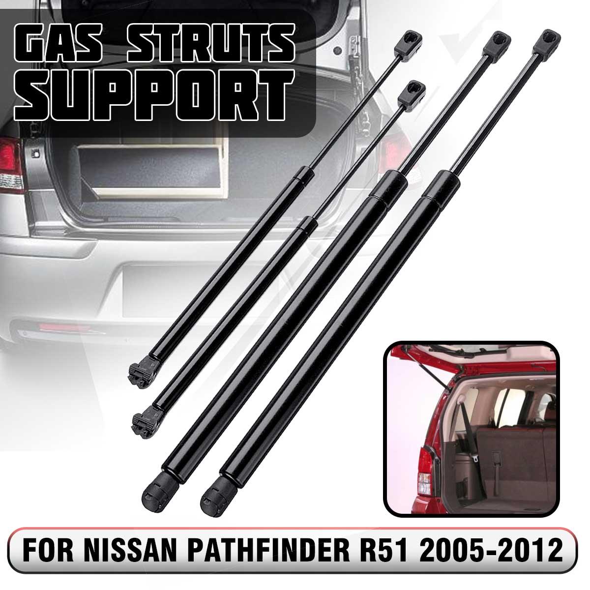 4pcs ด้านหลัง Tailgate BOOT แก๊ส Struts รองรับบาร์สำหรับ Nissan Pathfinder R51 2005 2006 2007 2008 2009 2010 2011 2012