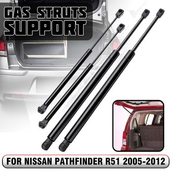 4pcs Rear Window Tailgate Boot Gas Struts Support Bar For Nissan Pathfinder R51 2005 2006 2007 2008 2009 2010 2011 2012 - discount item  18% OFF Auto Replacement Parts