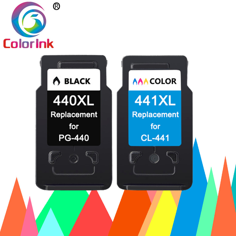 ColoInk 2Pack Compatible <font><b>440XL</b></font> 441XL Ink Cartridge Replacement PG 440 441 XL for <font><b>Canon</b></font> Pixma MG2180 3180 4180 4280 MX438 518 378 image