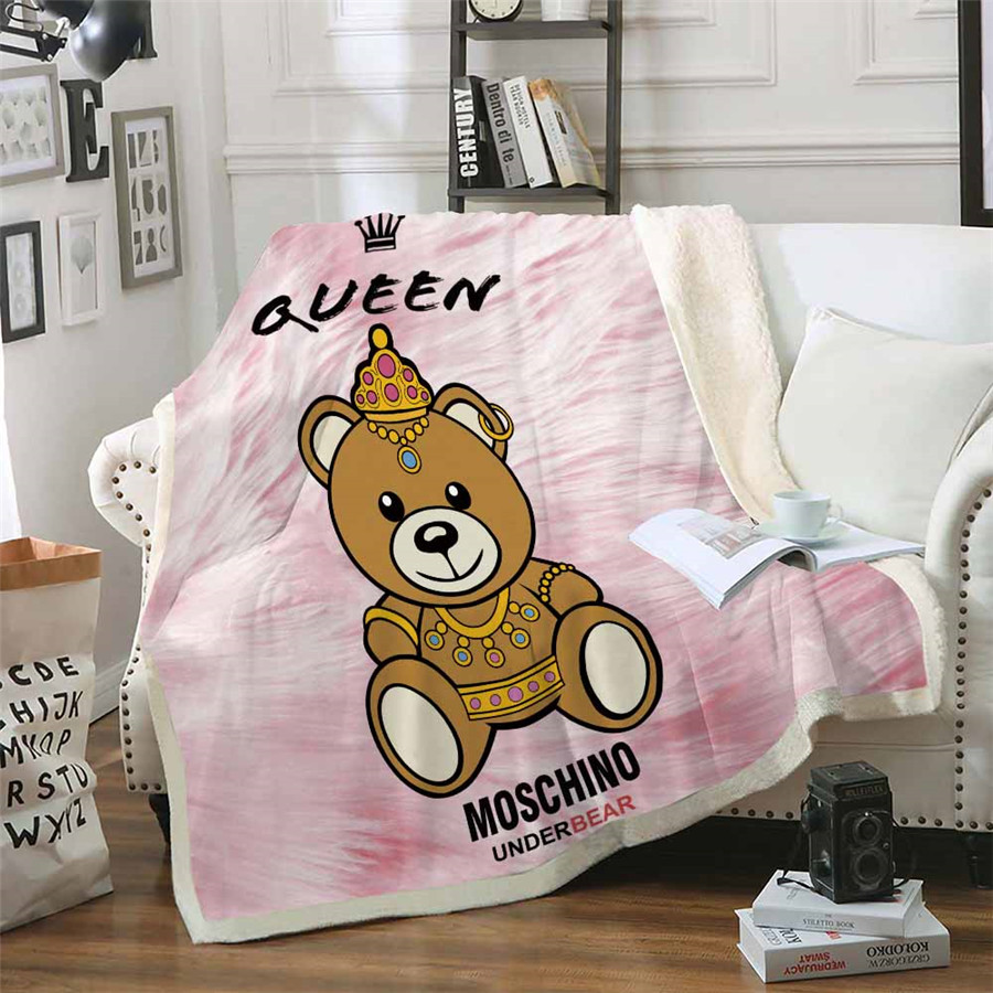 HELENGILI Bear Sherpa Blanket Bedspread Velvet Plush Soft Comfortable Home Camping Aircraft Blanket|Blankets| - AliExpress