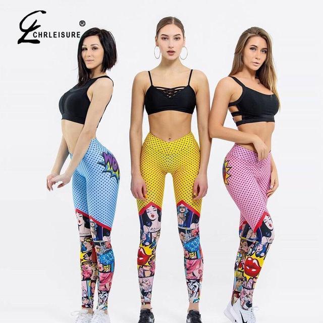 Women Digital Printing Leggings Workout Leggings High Waist Push Up Leggings 6