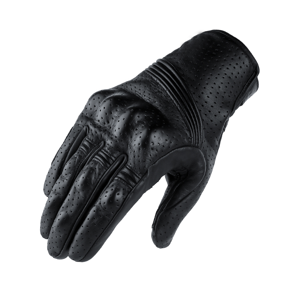 Motorcycle Protective Gears Motocross Gloves Retro Winter Warm Perforated Real Leather Motorcycle Gloves Moto Windproof Gloves