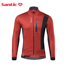 Cycling Jacket Windbreaker Santic Road-Bike-Clothes Sports-Coat MTB Outdoor Winter Autumn