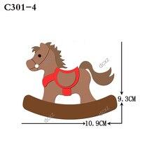 جديد الحصان خشبية يموت سكرابوكينغ C 301 4 قطع يموت متوافق مع معظم ماكينات قص يموت