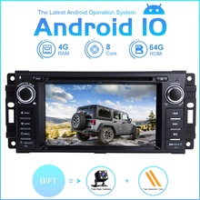 ZLTOOPAI Auto Multimedia Player Android10 Für Dodge Ram Challenger Jeep Wrangler JK Auto GPS Radio Stereo DVD Player 8 Core 64G