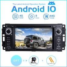 Zltoopai player multimídia para carro, android 10 para dodge ram challenger jeep wrangler jk gps rádio estéreo dvd player 8 núcleo 64g g