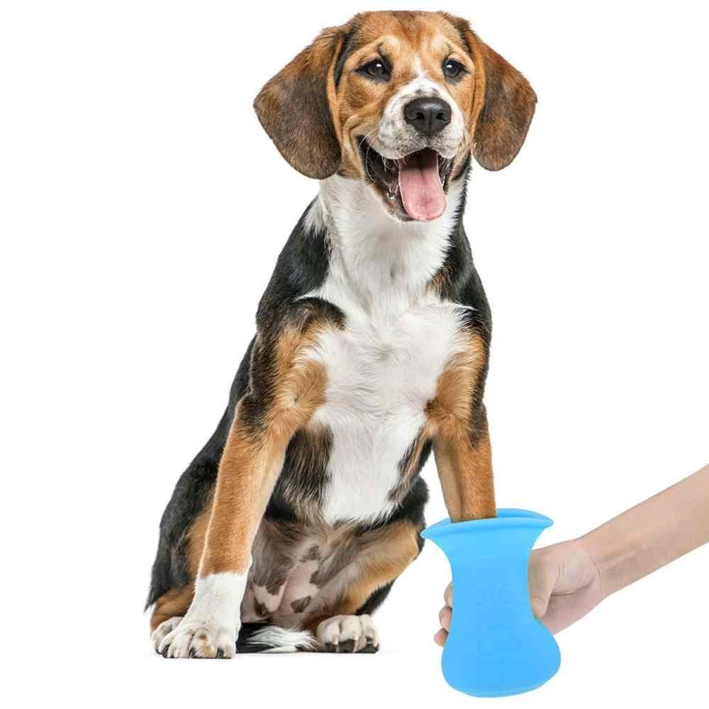 Hewan Peliharaan Kucing Anjing Kaki Bersih Piala untuk Anjing Kucing Alat Pembersih Plastik Lembut Sikat Cuci Kaki Mesin Cuci Anjing Peliharaan Accessories0207