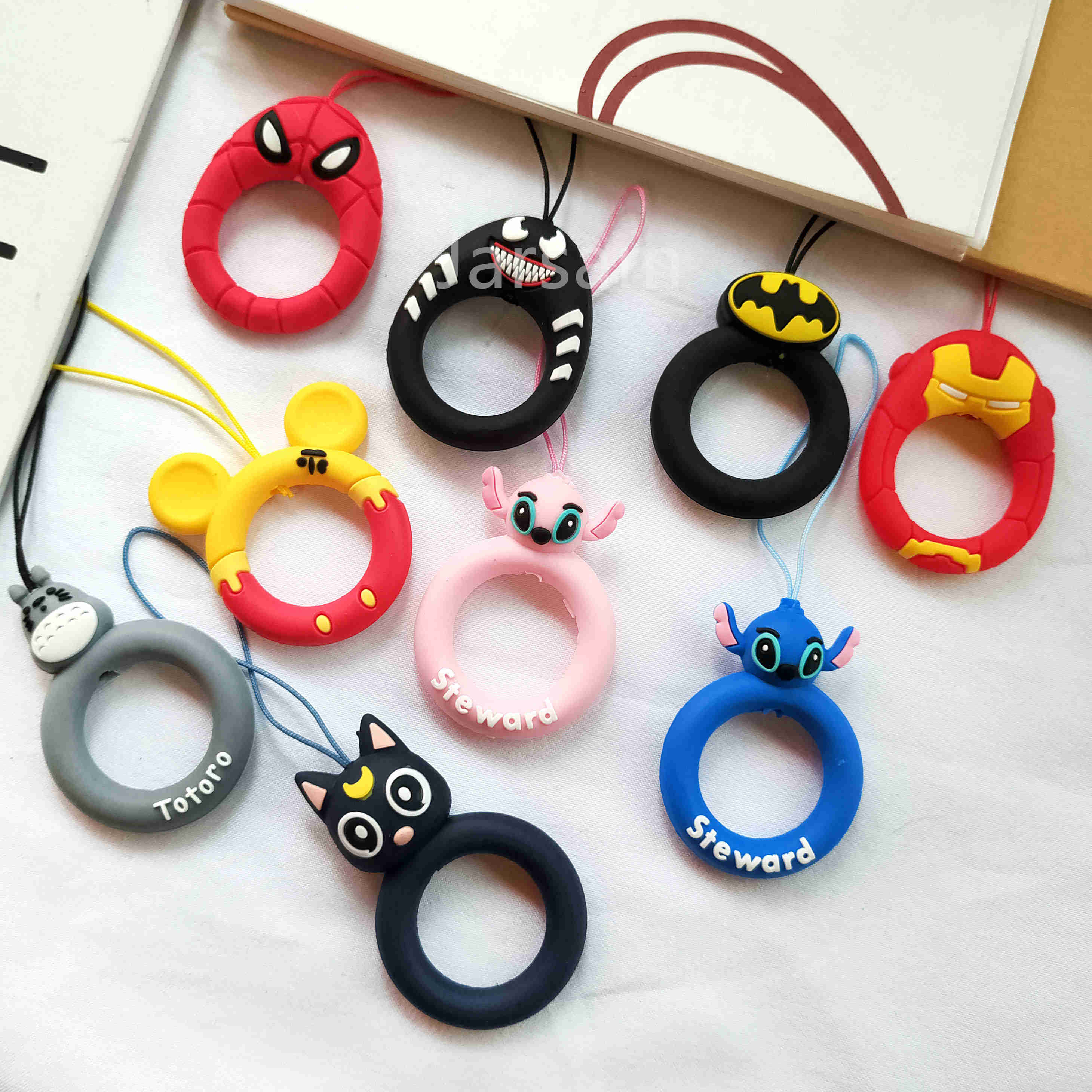 wholesale Mobile Phone Lovely Cartoon Cute Finger Ring Lanyard for Apple Airpods Accessories Case Bag Earphone Case Key ring