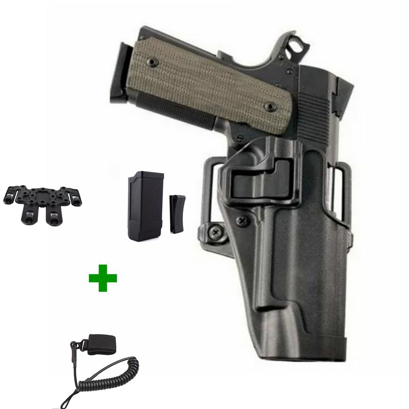 Quick Draw Tactical Airsoft Gun Holster Military Right Hand Belt Holster Gun Carry Case For Pistol Colt 1911