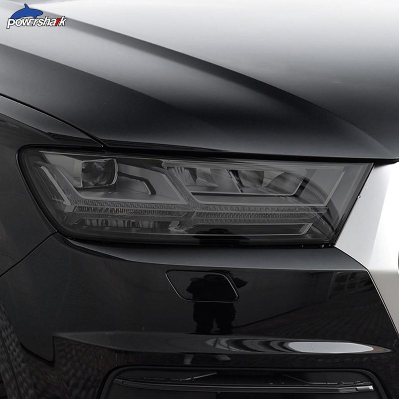 2 шт., тинт для автомобильных фар, черная фотопленка, прозрачная наклейка из ТПУ для Audi Q7 4M 2016 2017 2018 2019 2020, аксессуары|Наклейки на автомобиль| | АлиЭкспресс