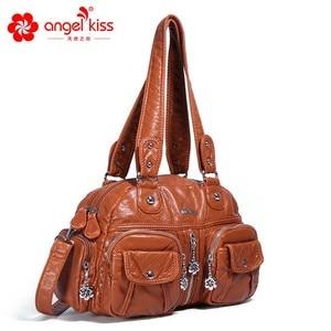 Image 3 - Angelkiss ブランド PU 洗浄ハンドバッグ女性ショルダーバッグホーボーのハンドバッグ高品質のメッセンジャーバッグの女性の革ハンドバッグ