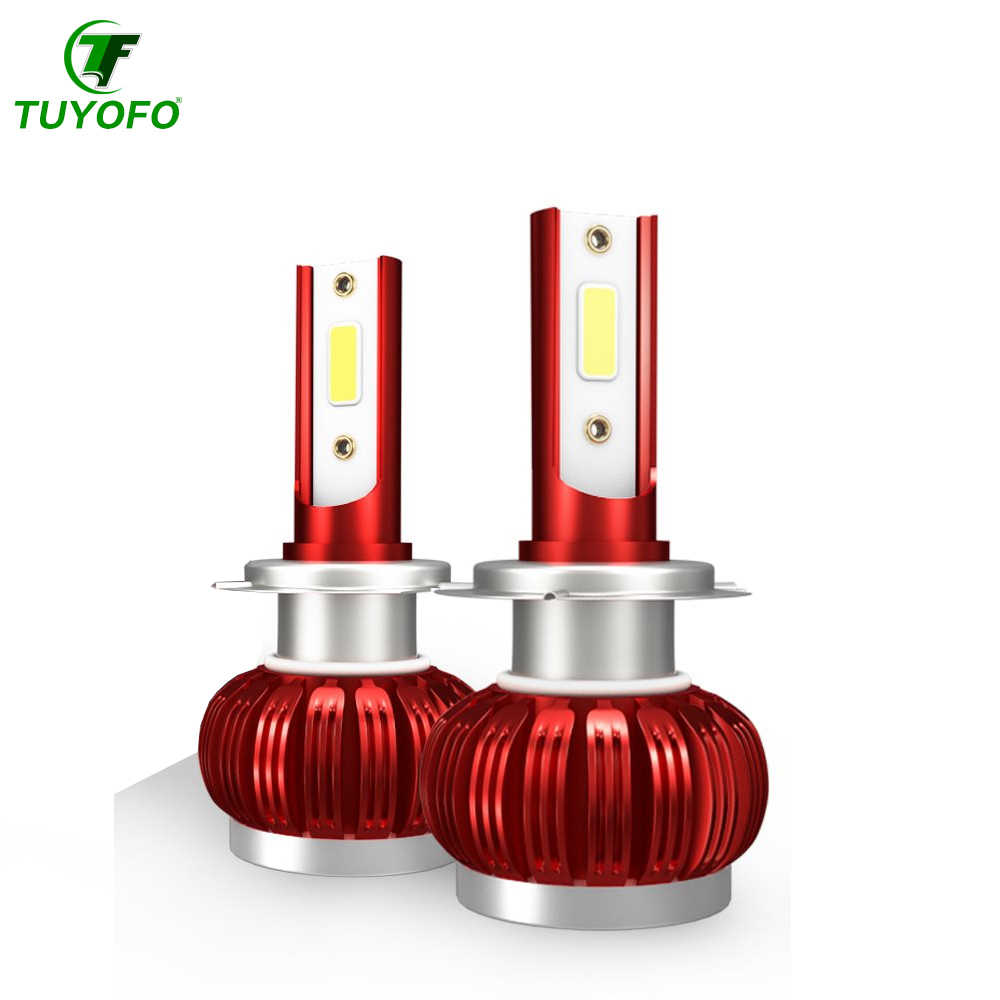 Tuyofo 1pieces  c7 LED Bulb 38000LM Headlight H7 H4 Beam H1 H11 9005 9006 Auto Led Head light Car Styling Lamps 6000K Cold White