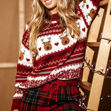 Gypsylady Повседневный шикарный вязаный свитер с цветочным рисунком