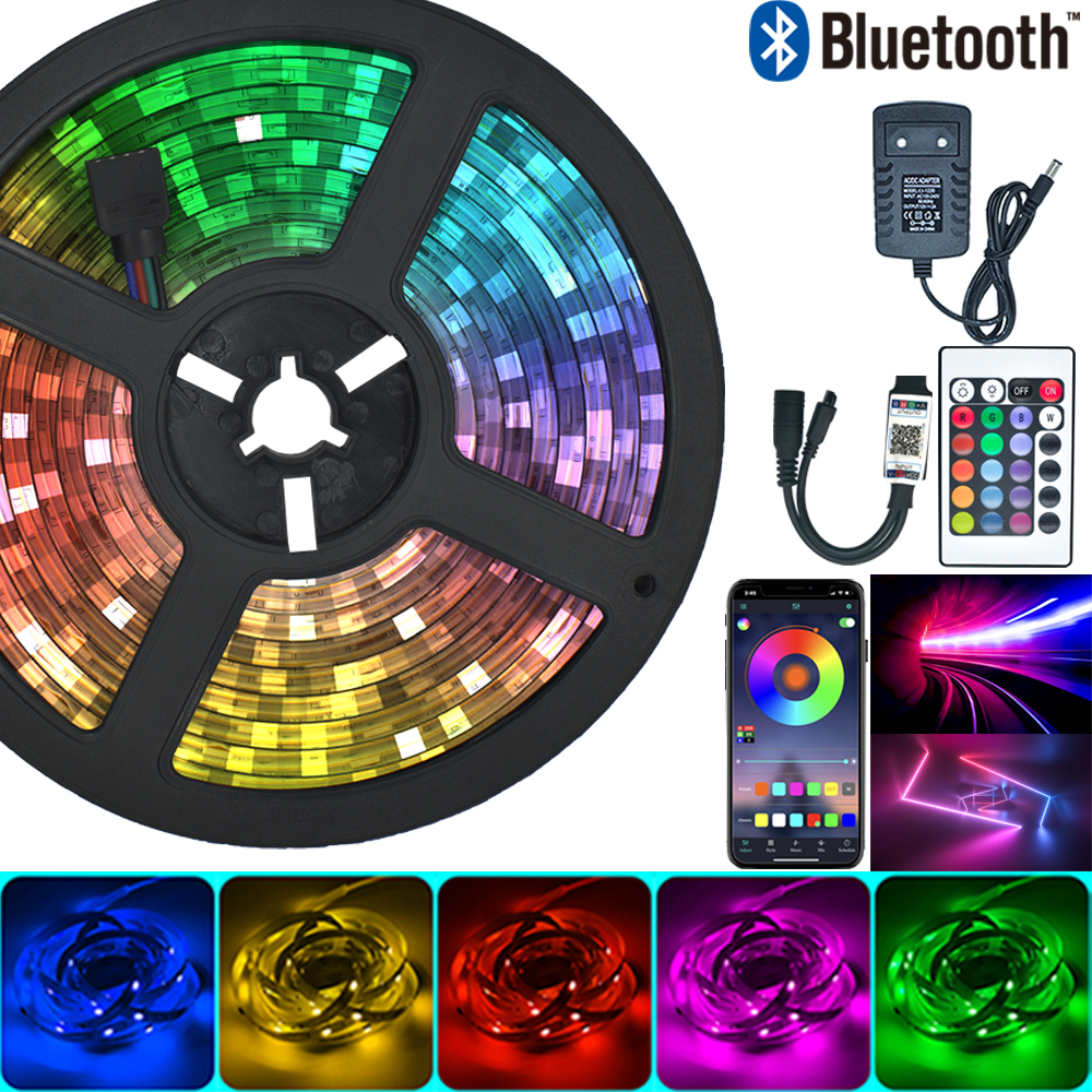 Светодиодная лента RGB 5050 2835 с диодами, 12 В постоянного тока, 20 м, 10 м, фута|Светодиодные ленты| | АлиЭкспресс