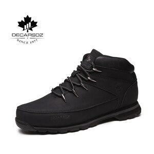 Image 4 - Men Basic Boots Shoes Men 2020 Autumn Winter Fashion Casual Boots Men Brand Ankle Botas New leather Classic Lace up Men Boots