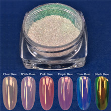 Neon Mermaid Nail Glitter Powder 0.2G Unicorn Cermin Ultra Tipis Chrome Pigmen Bubuk Manikur Kuku Seni Dekorasi(China)