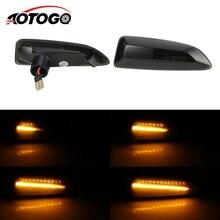 2PCS Dynamic LED Side Marker Lights 12V Flowing Turn Signal Light Repeater Lamp Panel for Opel Vauxhall Astra J K