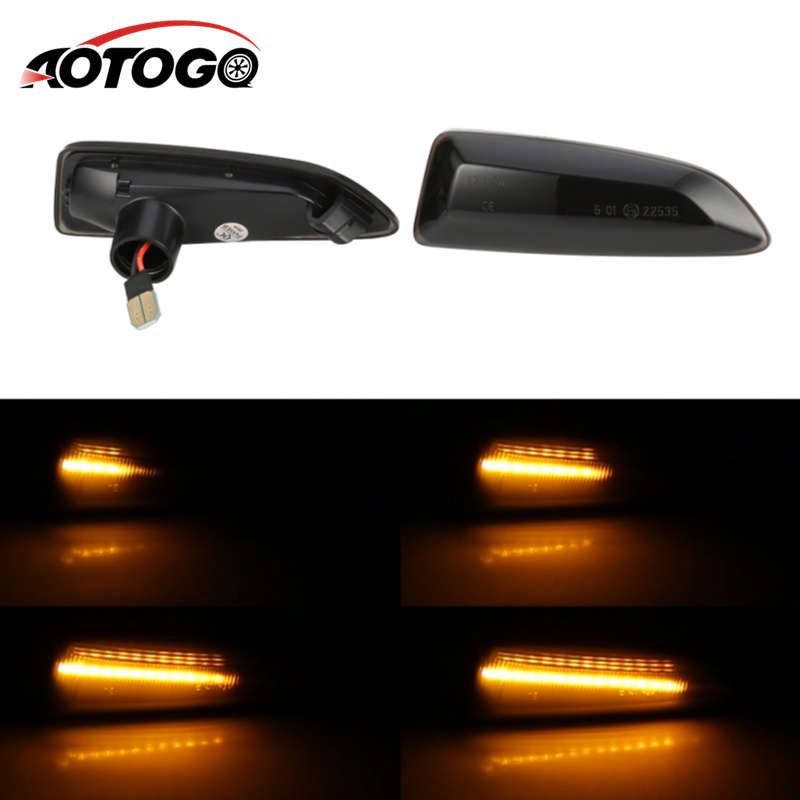 2PCS Dynamic <font><b>LED</b></font> Side Marker Lights 12V Flowing Turn Signal Light Side Repeater Lamp Panel Lamp for Opel for Vauxhall <font><b>Astra</b></font> <font><b>J</b></font> K image