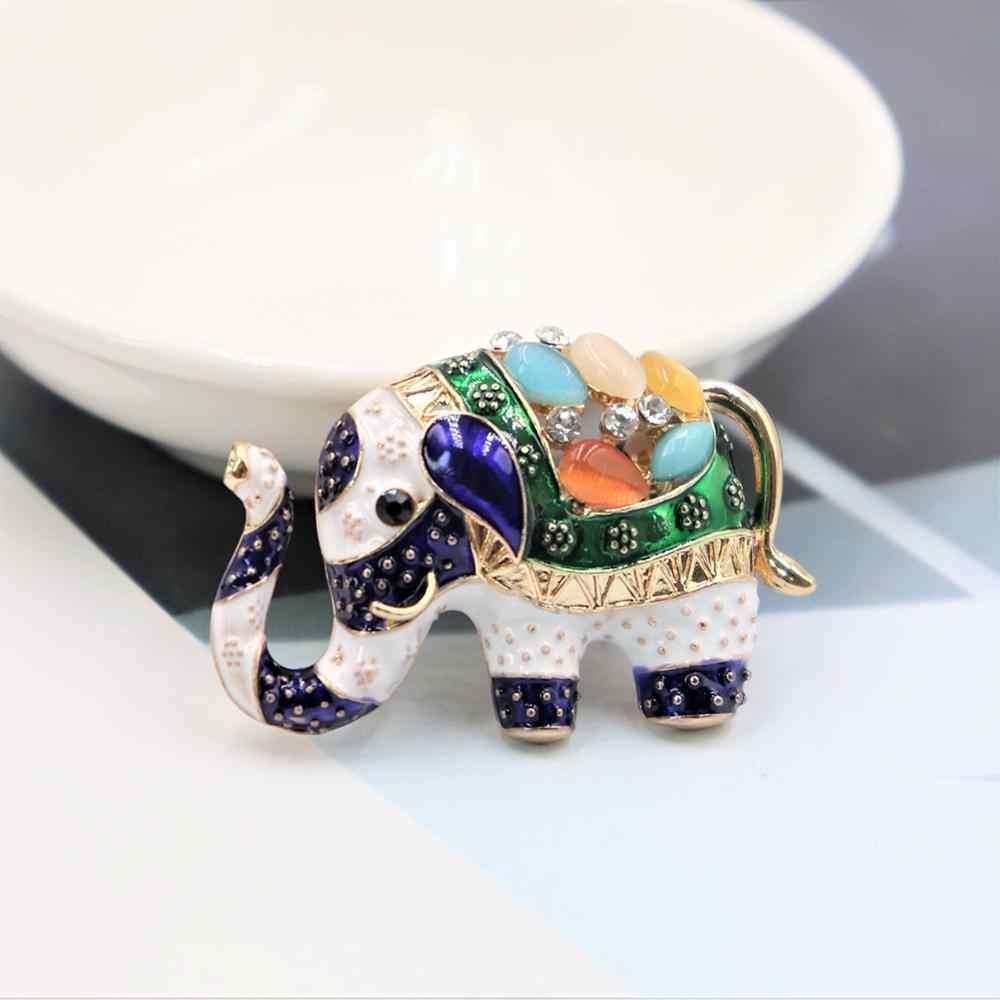 かわいい手紙象の形のブローチカラフルなエナメル樹脂女性のための子供たちは服の付属品の宝石