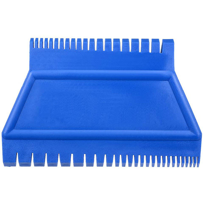 Wood Grain Tool 4.7 Inch Ladder Rubber Graining Pattern Scraper Tool for Wall Painting Decoration DIY MS15 Blue