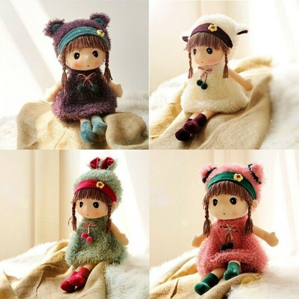 Cute Baby Girl Soft Stuffed Doll Plush Toy Plush Doll Children Short Yarn Toy Birthday Gift