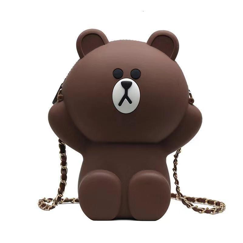 Fashion Design Women's Bear-shaped Bag Cute Funny Women's Evening Dress Shoulder Bag Purse Birthday Gift 2019