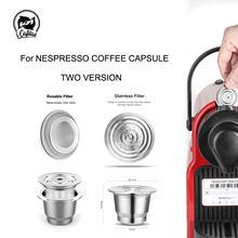 ICafilas для Nespresso многоразовые капсулы многоразовые из нержавеющей стали многоразовые капсулы кофе фильтр Pod кофе тампер ложка