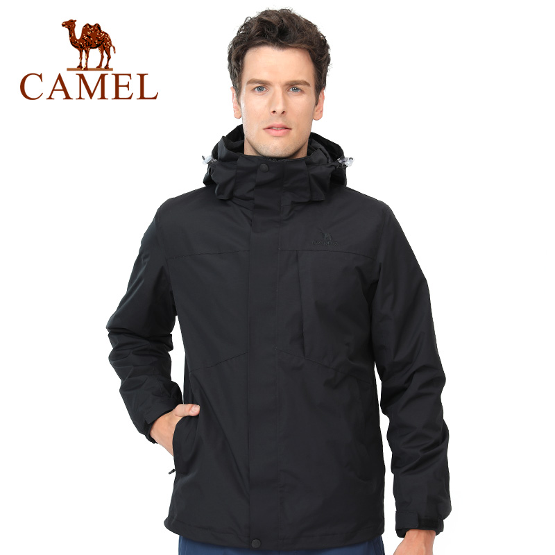 CAMEL Men Women Keep Warm Outdoor Hiking Jacket skiing jacket Thermal Fleece Inner Waterproof Windbreaker Hiking Trekking Coat