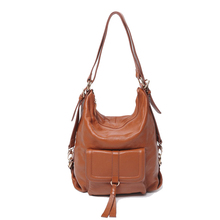 Genuine Leather Backpack Multifunction Female Black Korean For Girl Cowhide Mochilas Femininas Shoulder Bag Vento Marea