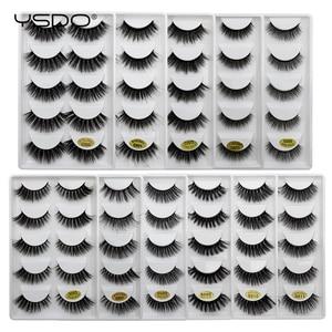 Image 3 - YSDO 5 זוגות 3D מינק ריסים טבעי שיער ארוך 100% דרמטי עין MakeupFake ריסים פלאפי Cilios ריסים G803