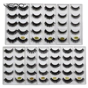 Image 3 - YSDO 5 Pairs 3D Nerz Wimpern Natürliche Haar Falsche Wimpern Lange 100% Dramatische Auge MakeupFake Wimpern Flauschigen Cilios Wimpern G803