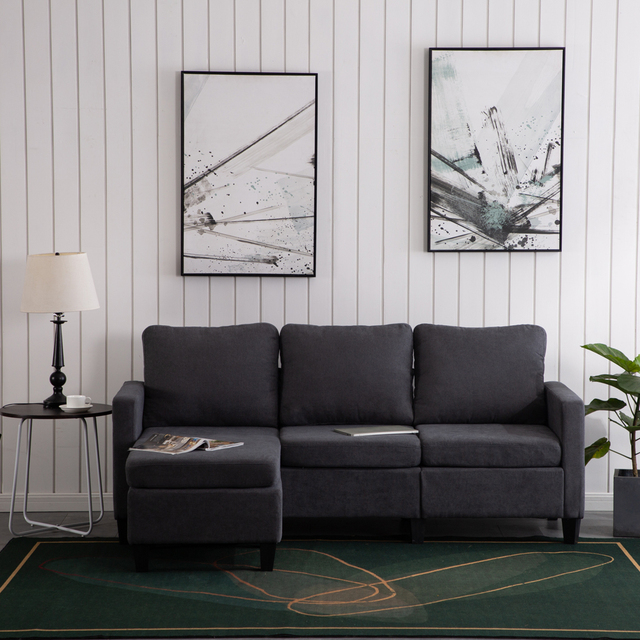 Two Colors  Double Chaise Longue Combination Sofa  Model Room Sofa Set (194 x 126 x 89)cm for Livingroom 5