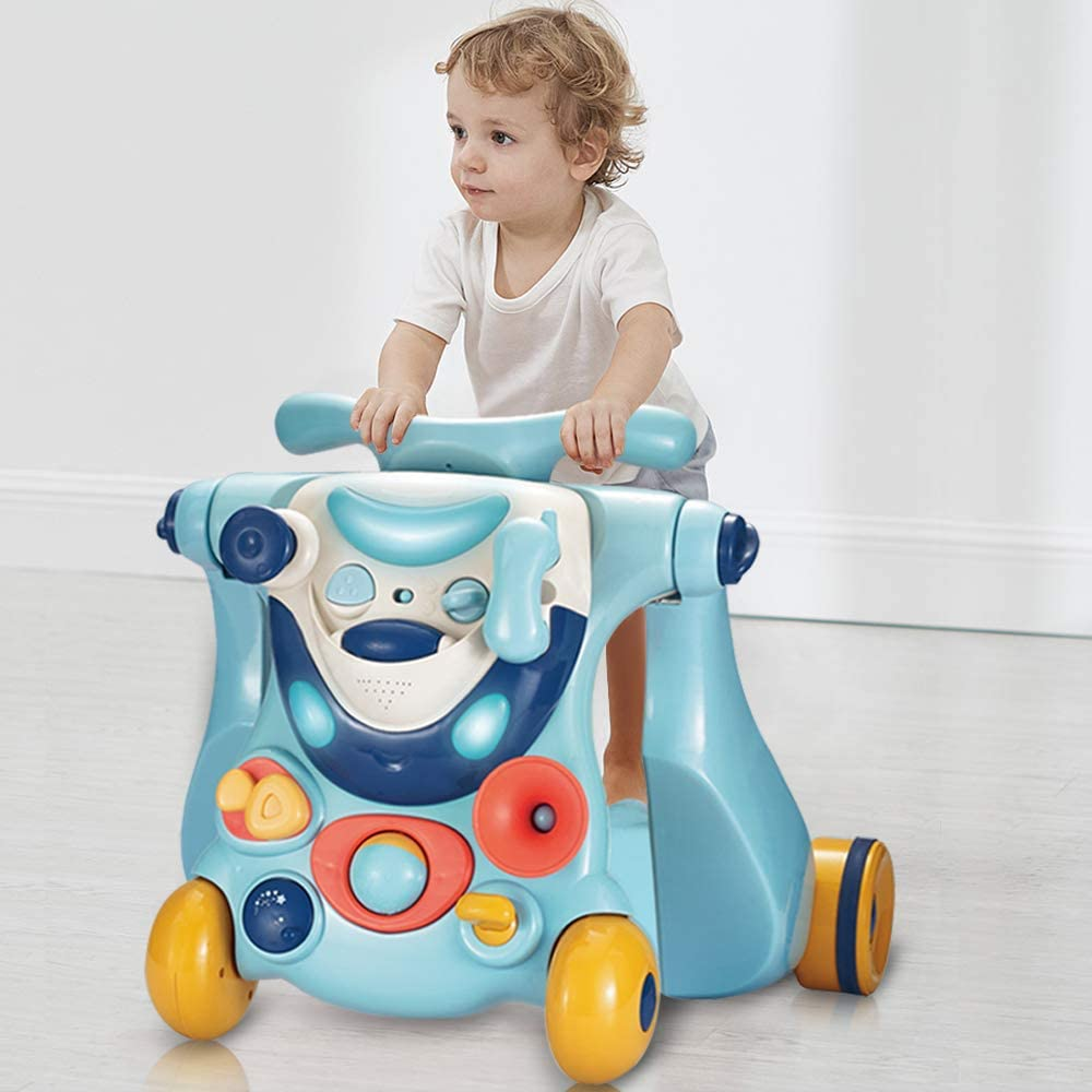 6-36M 3-in-1 Baby Walker Assistant With Wheel And Seat Child Toddler Multifunctional Early Learning Toys Car With Lights Music