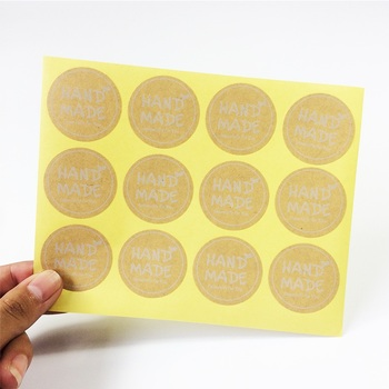 120 Pcs/lot Hand Made Round Square Stickers Kraft Label Sticker DIY For Gift Cake Baking Decoration Label Sealing Sticker 80pcs 10sheet thank you label stickers kraft label sticker diameter for diy hand made for gift cake sealing hang tag