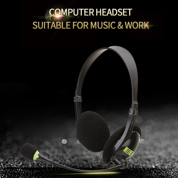 kebidu 3.5mm Noise Cancelling Wired Headphones Microphone Universal USB Headset With Microphone For PC /Laptop/Computer 6