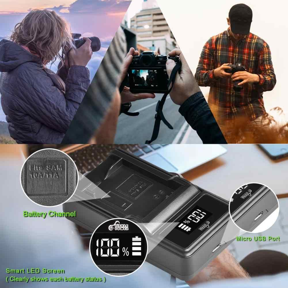 SLB-10A SLB10A SLB 10A pil ve LED şarj için Samsung EX2F HZ15W SL202 SL420 SL620 SL820 WB150F WB250F WB350F WB750 WB800F