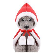 Милый Рождественский костюм для домашних животных зимняя одежда