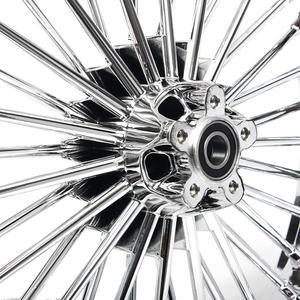 "Image 5 - BIKINGBOY 21"" x 3.5"" Single Disc Front Wheel Rim Hub 36 Fat King Spokes For Harley Dyna / Softail / Touring / Sportster"