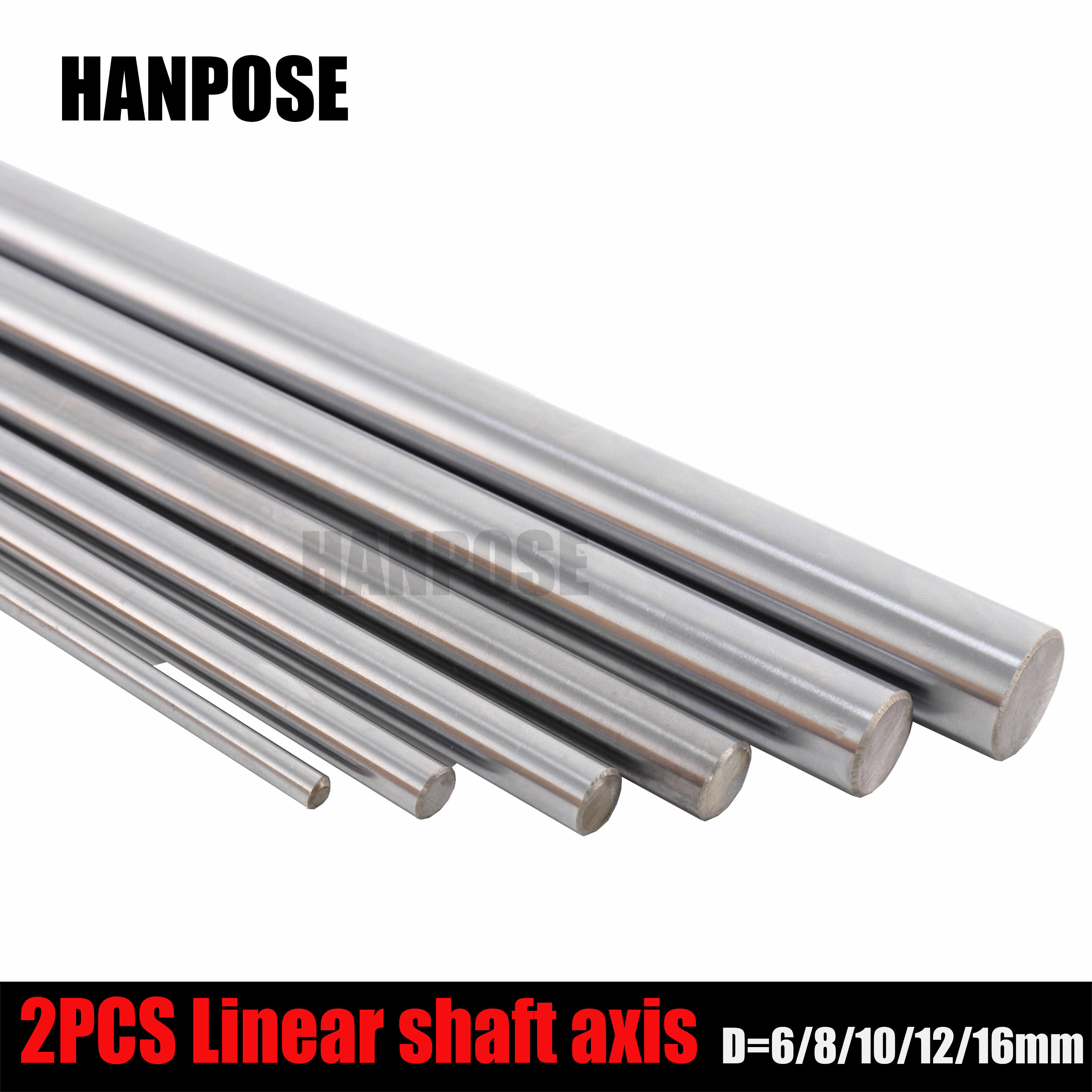 6//8//10//12mm x 300mm 3D Printer CNC Axis Chromed Smooth Rod Linear Rail Shaft NEW