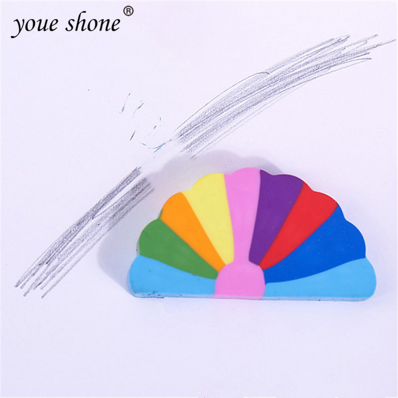1Pcs Eraser  Rubber Cute Rainbow Style Erasers Office Eraser Office Study Stationery Gifts For Children Nice Things YOUE SHONE