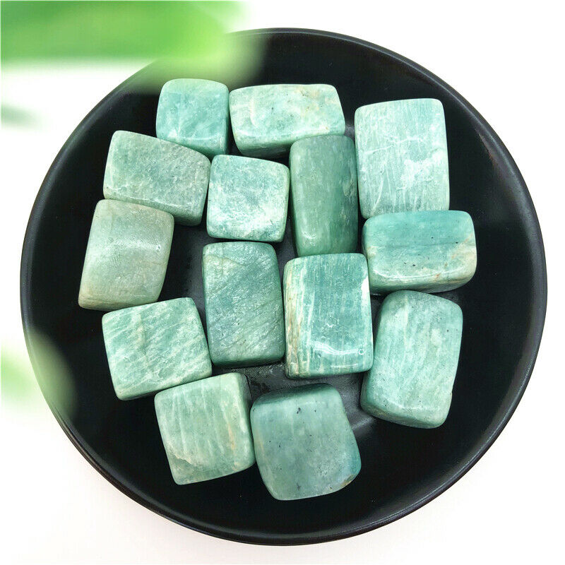 100g Natural Amazonite Crystal Cube Tumbled Stones Healing Meditation Decoration Natural Stones And Minerals